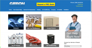 Saskatoon Website Design - Gibbon Heating
